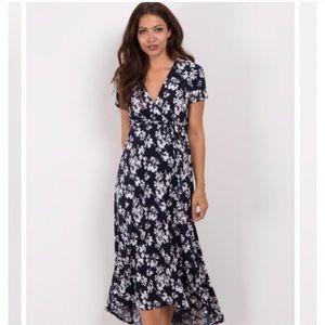 NWT Pinkblush Maternity Wrap Dress small